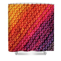 Rainbow Colors And Knitting Passion Shower Curtain by Jenny Rainbow. This shower curtain is made from polyester fabric and includes 12 holes at the top of the curtain for simple hanging. The total dimensions of the shower curtain are wide x tall. Curtains For Sale, Shower Curtains, Rainbow Colors, Home Art, Fine Art America, Passion, Knitting, Simple, Interior