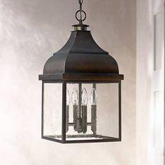"""Capital Westridge 22 1/4""""H Old Bronze Outdoor Hanging Light"""
