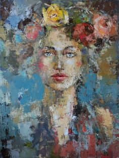 "Miss Spring. 40x30"" by Julia Klimova"