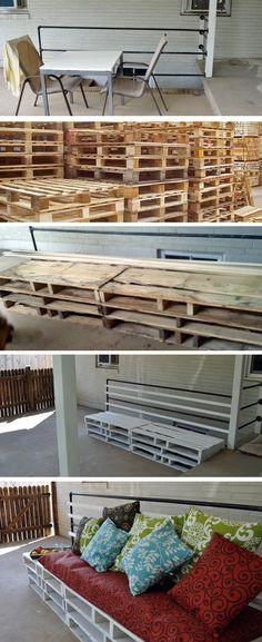 Make a palette bench | DIY