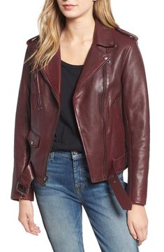 Amazing offer on 7 For All Mankind Leather Biker Jacket online - Offerdressforyou Cute Leather Jackets, Top Online Shopping Sites, Jackets Online, Coats For Women, Biker, Fashion Outfits, How To Wear, Clothes, Wraps