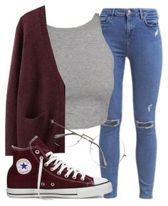 """""""Time to study!!"""" by shamika-domo ❤ liked on Polyvore featuring Topshop, Acne Studios and Converse"""
