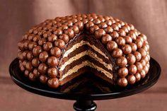 Delicious Malt Ball Cake - Cilantro Cooks! Foodie Community Blog