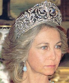 Tiara Mania: Queen Victoria Eugenie of Spain's Fleur de Lys Tiara worn by Queen Sofia of Spain