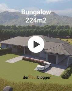 Bungalow - An older couple built this bungalow on the mother& beautifully situated property. Bungalow Style House, Modern Bungalow House Design, Modern Bungalow Exterior, 4 Bedroom House Designs, Bungalow House Plans, Dream House Exterior, Bedroom House Plans, Dream House Plans, Tuscan House Plans