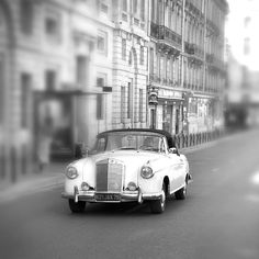 Paris Photo  Vintage Car Black and White Paris France by ParisPlus, $25.00