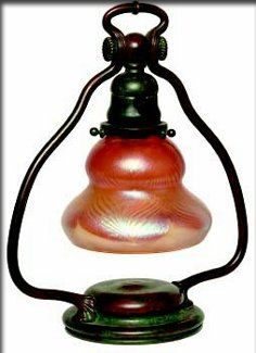 And bronze table lamp tiffany studios the shade with iridescent green - 1000 Images About Tiffany Lamp On Pinterest Tiffany