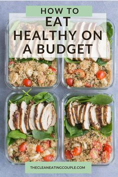 Eating Healthy on a Budget is possible with this post. Is eating healthy expensive? Not with these tips! Grab a healthy meal plan with a grocery list & budget friendly recipes here! Whether you're one, two, or a large family – these tips can be used. Healthy Recipes On A Budget, Healthy Family Meals, Healthy Eating Recipes, Healthy Chicken Recipes, Clean Eating Recipes, Eating Clean, Eating Healthy On A Budget For One, Family Recipes, Budget Healthy Grocery List