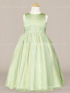 b36665f394d flower girl dress Pistachio Organza Dress
