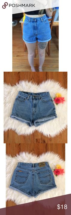 Vintage 90's High Waisted Mom Shorts  Amazing pair of vintage high waisted Jordache shorts! Super flattering high waisted mom jean fit in a classic blue denim wash. A++ quality, these are built to last! Seriously a perfect pair of shorts to go with everything you own this summer! In awesome condition. Best fits a size 27/28, check the measurements for your ideal fit :)  Measurements: Waist- 14 inches flat across  Rise- 11.5 inches  Hips- 20.5 inches flat across  Inseam- 3.5 inches (unrolled)…