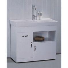 White Ceramic 31.5-inch Single-sink Bathroom Vanity