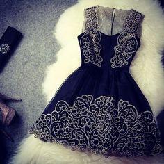 Beautiful Black Short Evening Dress