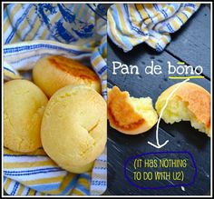 Pan de bono is columbian bread.had it at 'Ole' in South Beach. Can't wait to try this recipe :).AND it's Gluten Free. Gluten Free Rolls, Gluten Free Baking, Gluten Free Recipes, Bread Recipes, Cooking Recipes, Veggie Recipes, Columbian Recipes, Bread Ingredients, Colombian Food