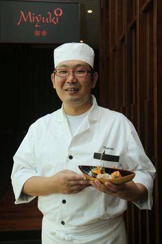 Chef Shintaro spreading Japanese love.  #Miyuki #Japanese #Cuisine