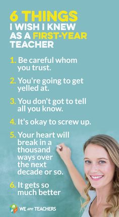 6 Things I Wish I Knew As a First Year Teacher. What a great list!