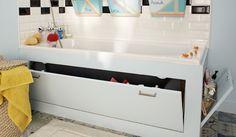 diy fabriquer un tablier de rangement pour la baignoire