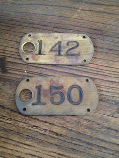 Stamped Number tags #Retro #Vintage #Numbers