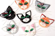 Cat Fused glass ornament , choose your color by Artdefleur on Etsy https://www.etsy.com/listing/172419771/cat-fused-glass-ornament-choose-your