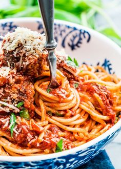 Spaghetti and Meatballs is a classic comfort food and pretty much everyone's favorite. A classic dish with meatballs in a simple tasty tomato sauce served.
