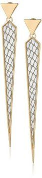 """neeeed -- Steve Madden """"Glitter Boost"""" Silver Spike Drop Earrings  -- http://www.hagglekat.com/steve-madden-glitter-boost-silver-spike-drop-earrings/"""