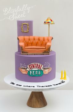 Friends Birthday Cake, Friends Cake, Sweet 16 Birthday, Friends Show, Birthday Party Themes, Birthday Cakes, Pretty Cakes, Cute Cakes, Cake Tv Show