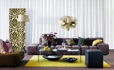 Glamour e Glacê: Casa: Salas de Estar em tons de Roxo e Lilás