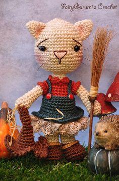 Amigurumi - Alie the little witch cat - Tutorial by FairyGurumi's Crochet