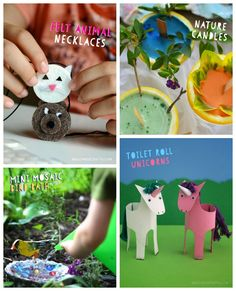Projects from the Happy Handmade Craft Book I can't wait to try with the kids! Making the TP roll unicorns today
