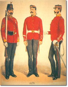 THE CAMERONIANS (Scottish Rifles) UNIFORMES EN 1873. Más en www.elgrancapitan.org/foro