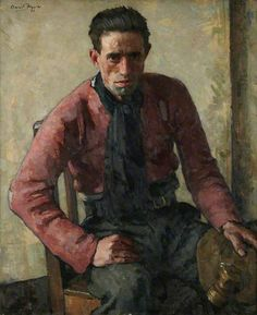 The Young Miner, 1926 by David Foggie (1878-1948)