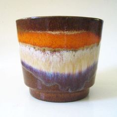 1960s West German pottery planter by Scheurich Model No by Kultur, $19.00