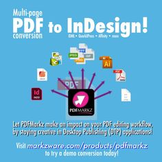To all in #GraphicDesign out there - Stay #creative, #editPDF's in #DTP apps like Adobe #InDesign with a native, multi-page PDF converter from Markzware, PDFMarkz! Submit your PDF for conversion here: I Can Do It, Let It Be, Desktop Publishing, Adobe Indesign, Knock Knock, Apps, Graphic Design, Creative, App