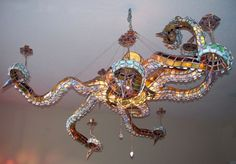 glass octopus chandelier blown glass made by masons creations this stained glass octopus chandelier measures approximately 4u2032 across and tentacular stained glass octopus chandelier would light up any room