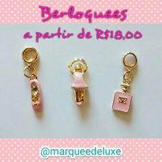 Olha que graça esses berloques! Temos diversos modelos para você montar sua pulseira Pandora Inspired!  Lembrando que temos modelo intafil!!!  Fica de olho nas nossas redes sociais!  Site: www.marqueedeluxe.com.br  Insta: @marqueedeluxe  Pinterest: Marquee de Luxe  Whats: (42)9802 3838