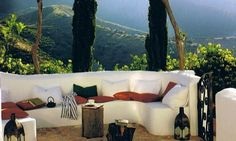 Let's sit our here and sip some vino. Such a beautiful afternoon.