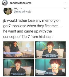 "Why am I crying? ""That way I can find them"". My heart! Got7 Funny, Got7 Meme, Bts Memes, Youngjae, Yugyeom, Got7 Jb, Game Of Thrones Quotes, Game Of Thrones Funny, Girls Girls Girls"