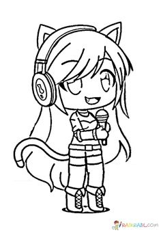 gacha life coloring pages unique collection print for free  cute coloring pages cute animal