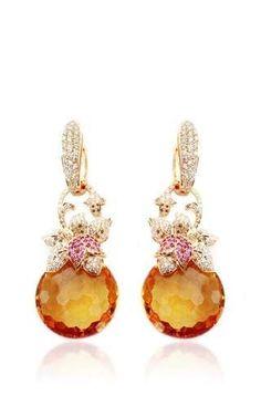 Citrine and diamond earrings by FARAH KHAN FINE JEWELRY