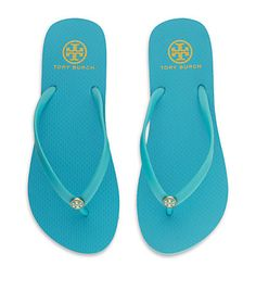 Tory Burch Thin Flip Flop.  Bought these yesterday. #love #toryburch