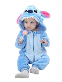 e8863777c76 Flannel Cute Cartoon Animal Baby Jumpsuits for Infants Newborn Rompers Boys  Girls Toddler Hooded Clothing
