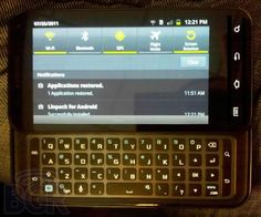 Samsung Galaxy S2 with sliding QWERTY keyboard