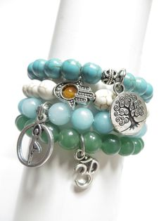 Tree Of Life Hamsa Mala Bracelet