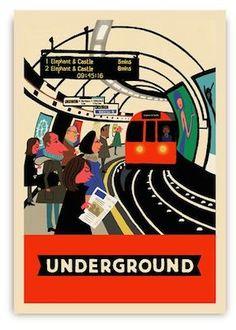 Paul Thurlby's London postcards from Lagom Design