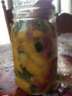 Fermented foods recipes - fermented beets, garlic, cucumbers - and mango/papaya chutney