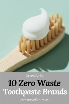 Looking for some zero waste toothpaste brands? Try one of these plastic-free products: There's everything from pastes to tooth powders to tablets! All of these products are vegan and cruelty-free, and lots of them use organic ingredients. There's even one that includes fluoride too. Click through to learn more about zero waste oral care. #zerowaste #zerowastebathroom #zerowastetoothpaste