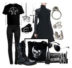 """""""The World's End ~ Gary King"""" by blondiie-bridget-green ❤ liked on Polyvore featuring J Brand, Gareth Pugh, Retrò, OPTIONS, Anna Field, Alexander McQueen, Demonia, MANGO, Forever 21 and Ardency Inn"""