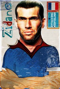 #Zidane by Ed Pires sold at: http://society6.com/EdPires/Legends-of-Football-Soccer_Print