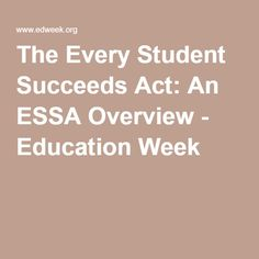 edweek speced every student succeeds