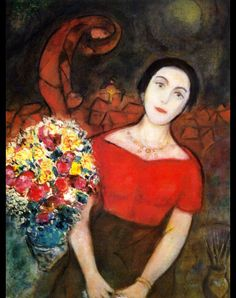 Marc Chagall, Portrait of Vava, c. 1955