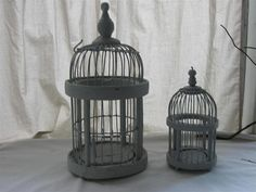 Birdcage Wire & Wood Dome Birdcages Vintage Bird Cages by Fayes2